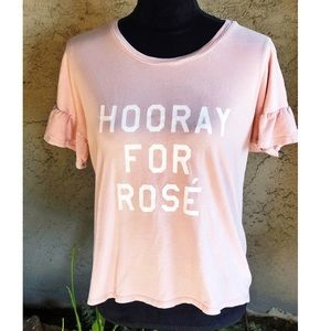 Rose Wine 💗 Pink Cotton Tee SZ Small